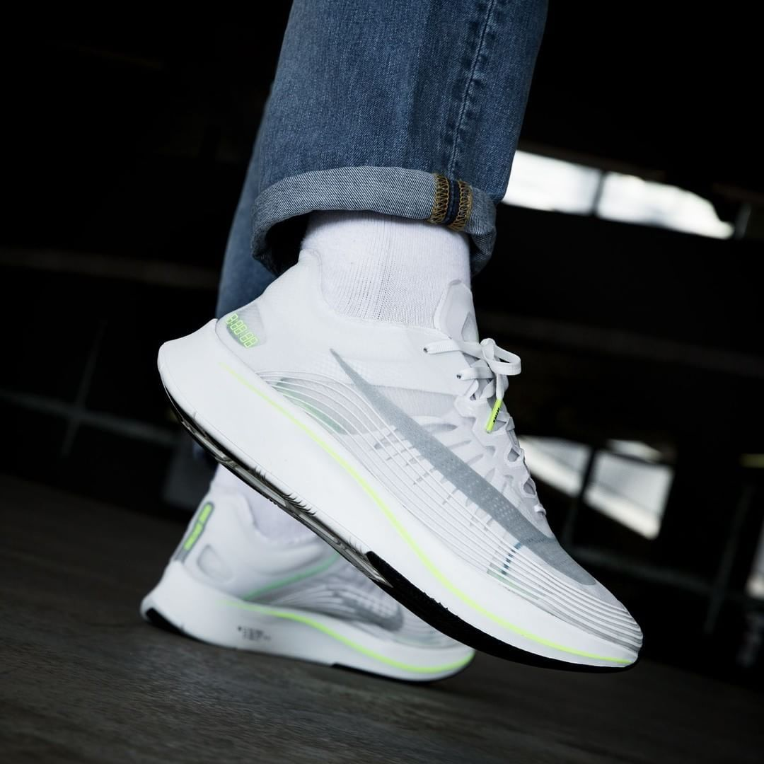 4f6b079f2ea28 Nike Zoom Fly SP White   Volt Glow Credit   Overkill