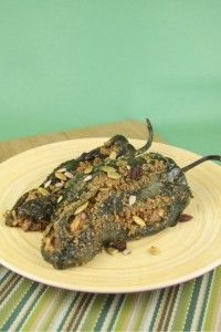 Chili Cheese-Stuffed Poblano Peppers