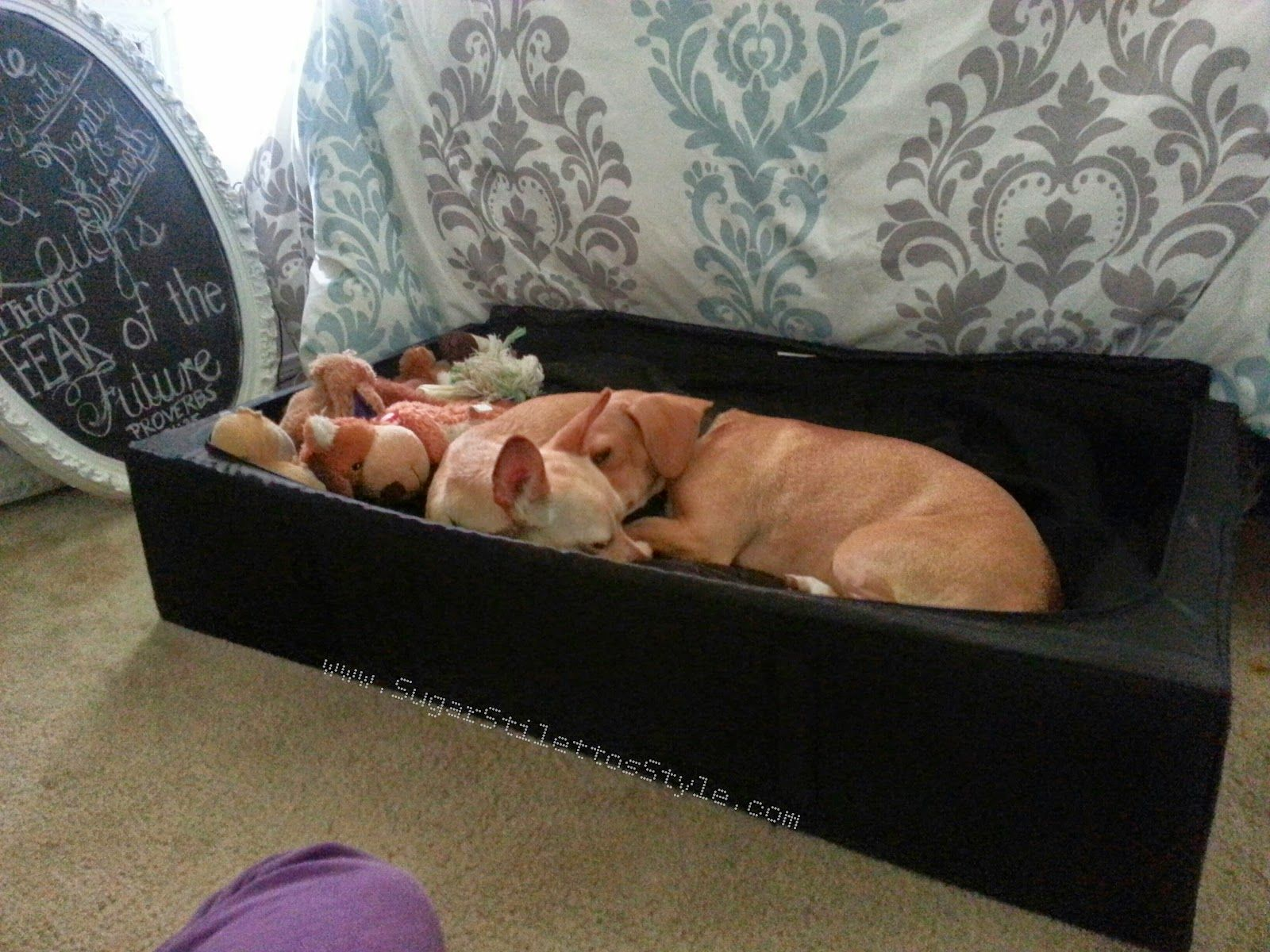 Life Is My Runway Ikea Hack Diy Skubb Dog Bed Trundle Diy Pet Bed Ikea Dog Waterproof Dog Bed