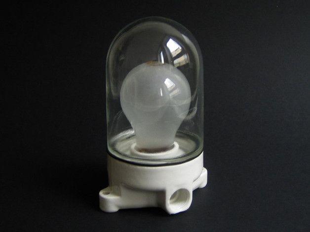 Vintage Wandlampen - Wandleuchte/Wandlampe, Glaskolben, 50er/60er - ein Designerstück von lichtwaren bei DaWanda