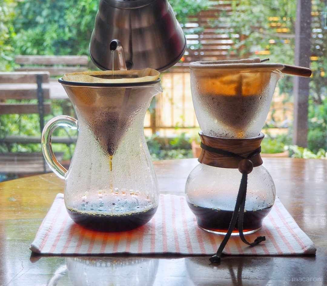 ネルドリップで最高においしいコーヒーを淹れる方法 Macaroni コーヒー ドリップ お湯