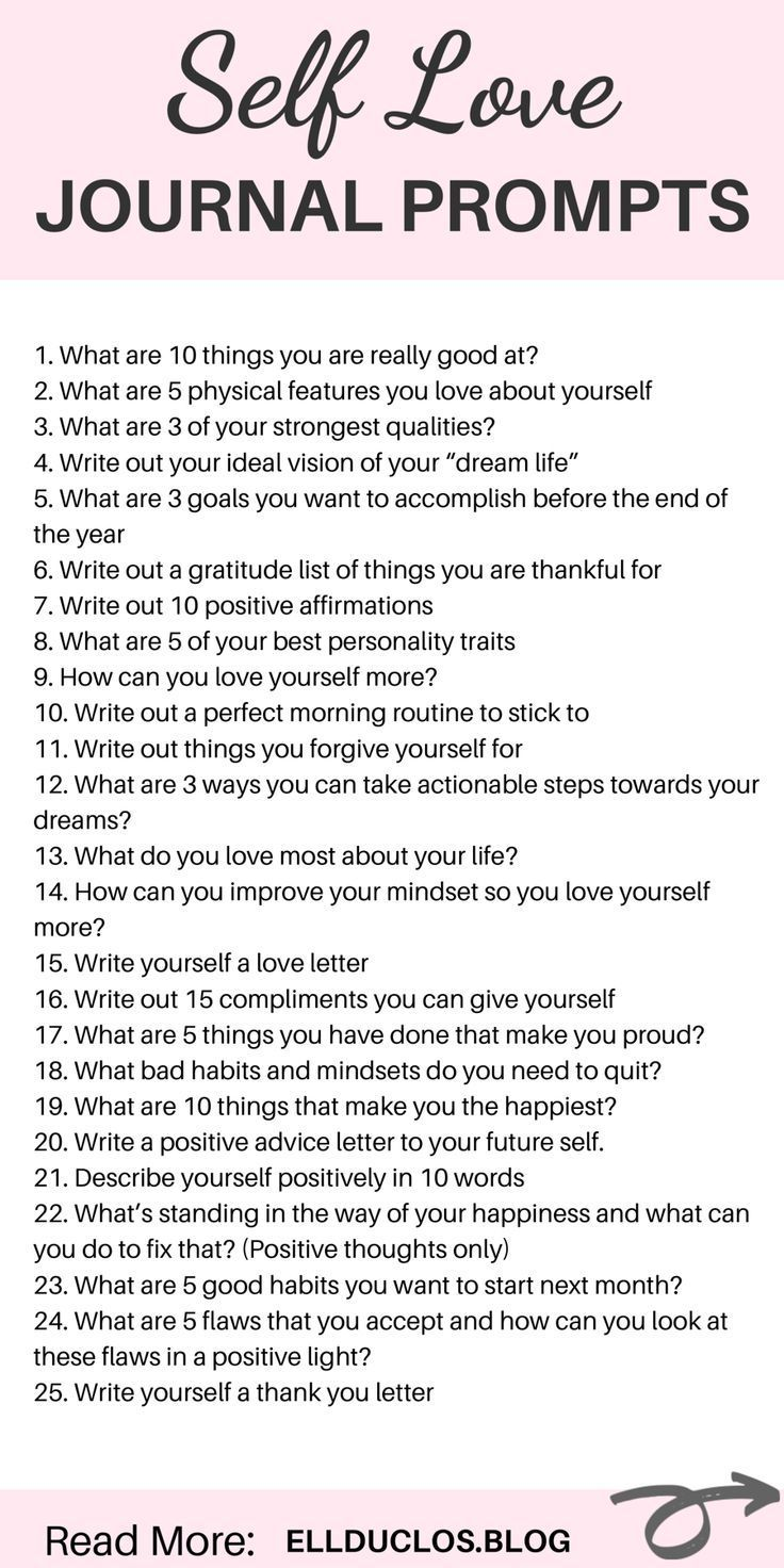 25 Journal Prompts for Self-Love and Confidence Building 25 journal prompts to help you boost your confidence, change your mindset and love yourself again. Self love journal prompts.
