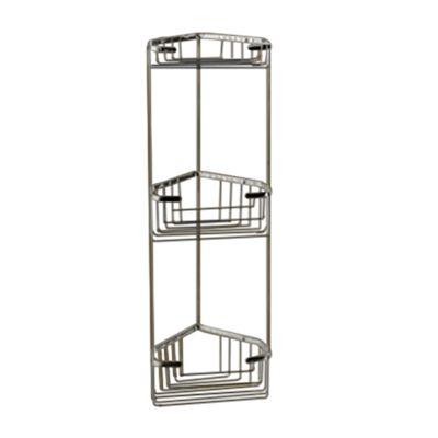 nameeks gedy 677165in wire corner bathroom shelf - Corner Bathroom Shelf