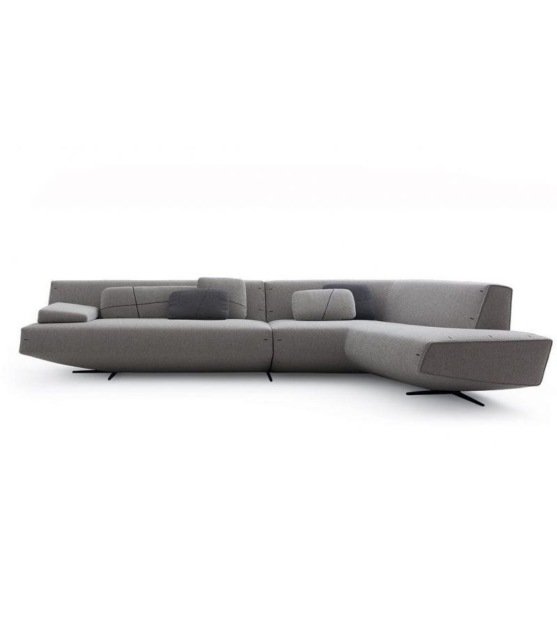 corner upholstered fabric sofa sydney by poliform design jean marie massaud