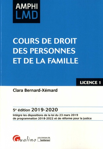 Cours De Droit Des Personnes Et De La Famille Edition 2019 2020 Clara Bernard Xemard Cours De Droit Droit Prive Separation De Corps