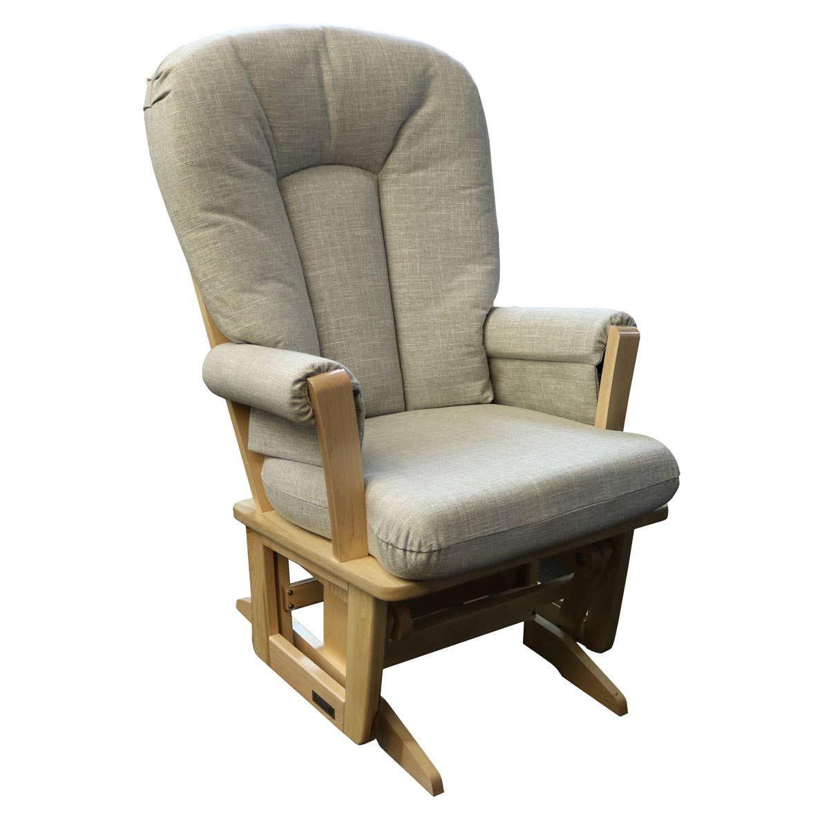 Chaise Bercante Exclusive Bois Naturel Tissu Gris Pale 5211 Dutailier Clement Nursery Glider Chair Modern Furniture Companies Recliner Chair