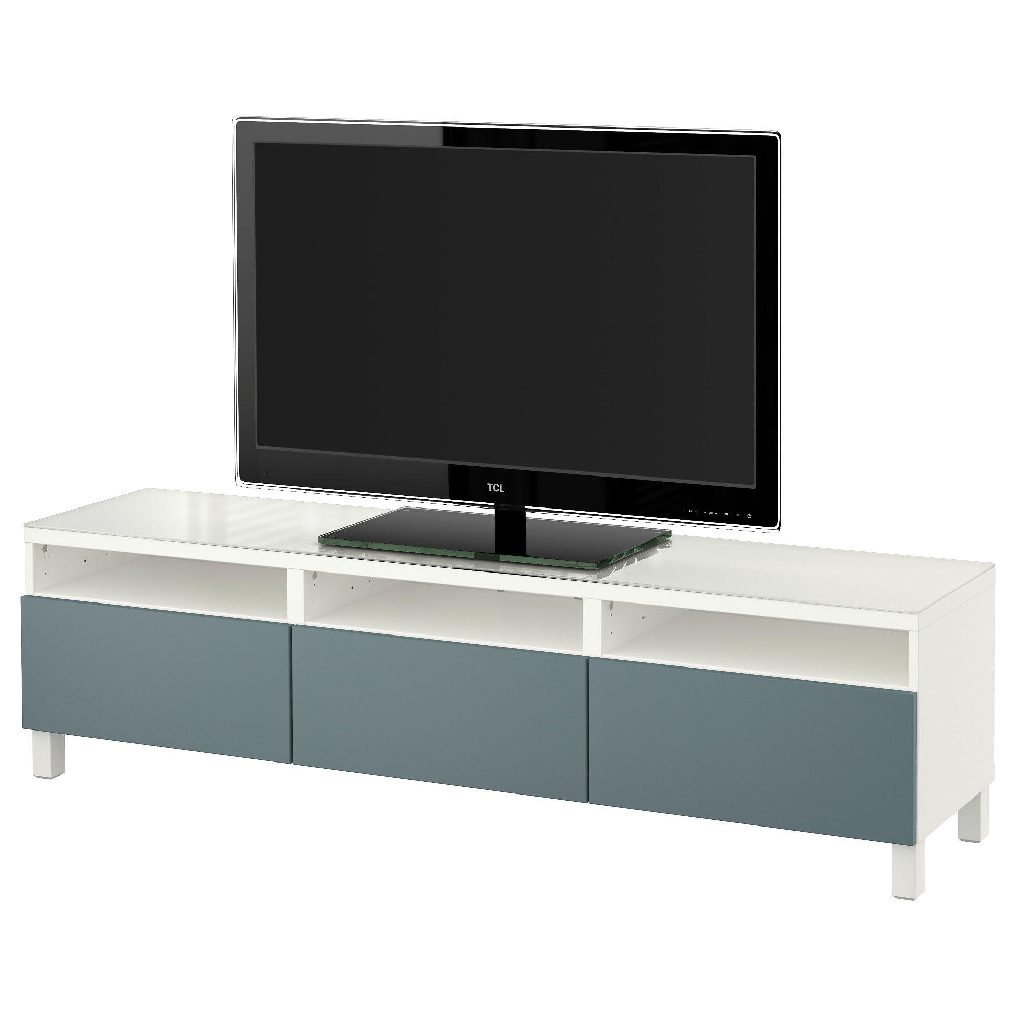 BESTÅ, TV-Bank mit Schubladen, weiß Jetzt bestellen unter: https://moebel.ladendirekt.de/wohnzimmer/tv-hifi-moebel/tv-lowboards/?uid=37f2c082-5dbc-5771-b737-be5f45cb0ca4&utm_source=pinterest&utm_medium=pin&utm_campaign=boards #tvlowboards #wohnzimmer #tvhifimoebel