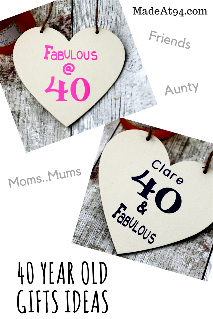 40 Year Old Gifts Ideas For Your Mum Wife Girlfriend And Friend Hanging Hearts Personalized 40th Birthday