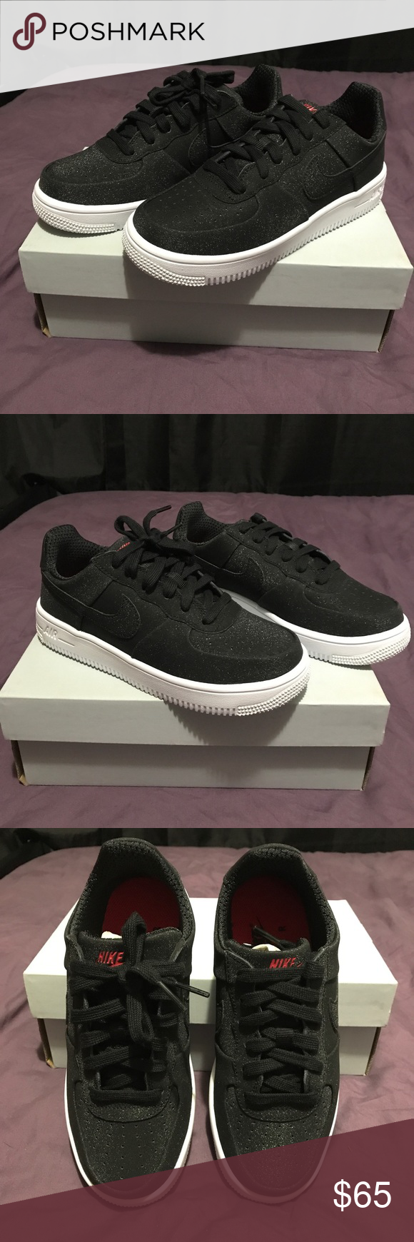9326eb260167 Brand New Nike Air Force One Black Glitter 6.5 Brand New! Never Worn! Unique