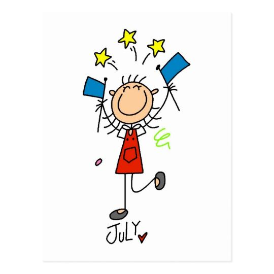 Girl's July Birthday Postcard | Zazzle.com #birthdaymonth