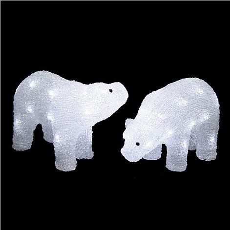 Light up your home with this miniature LED covered polar bears #christmas # decorations - Light Up Your Home With This Miniature LED Covered Polar Bears