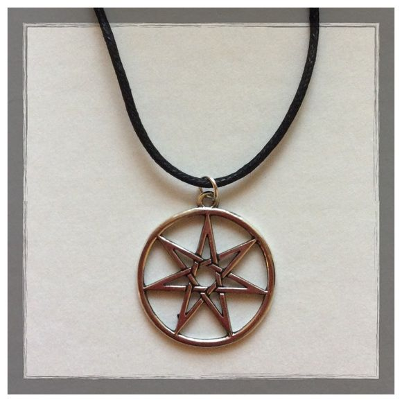 Seven pointed fairy star heptagram pendant heavens fairy and culture seven pointed fairy star heptagram pendant aloadofball