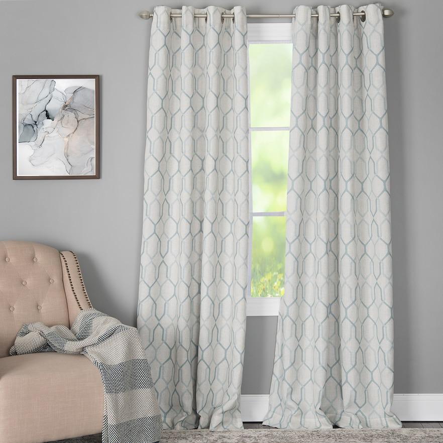 Corona Curtain 1 Panel Alain Window Curtain Dark Green 50x84