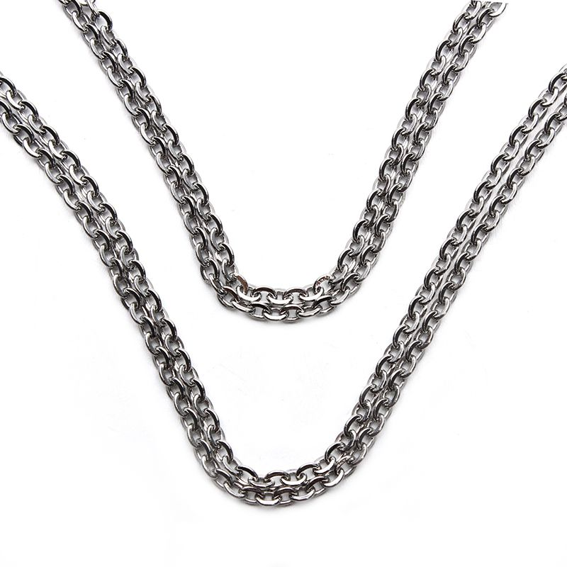 c619820e155 Click to Buy << 5 Meters/pack Silver Tone Men Stainless Steel Chains ...