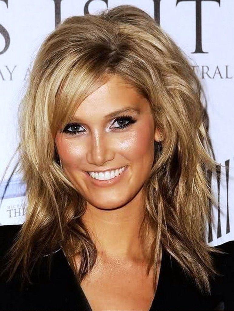 Medium length hairstyle for thin hair layered frisuren pinterest