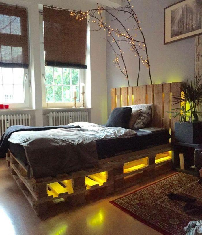 Interieur Ideen Mit Europaletten Bett Green Interior Design Bed