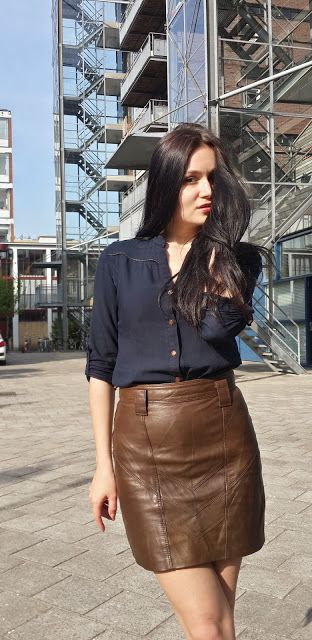 brown leather skirt - Google претрага | krpe moje | Pinterest ...
