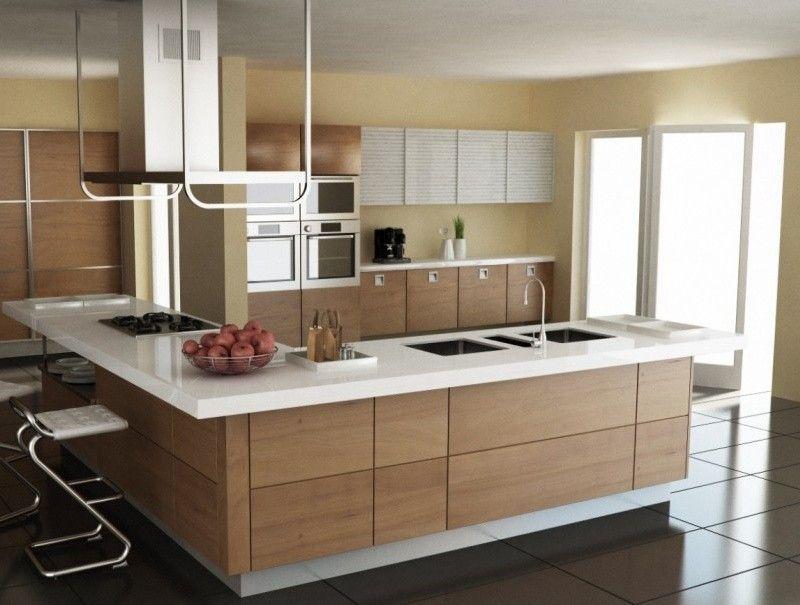 Arredare una cucina con isola - Cucina con isola legno chiaro ...