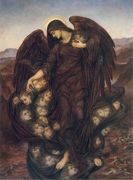 Although this might look like something painted during the days of the Renaissance, it was actually created in 1916 as a response to the first World War. Its artist, Evelyn De Morgan, was a follower of the Pre-Raphaelite movement, which attempted to revive the style of the early Italian masters. A Spiritualist, and thus a firm believer in the afterlife, De Morgan made this representation of the Angel of Death collecting souls to take to the other side.