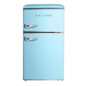 Galanz 3 1 Cu Ft Retro Style Top Freezer Refrigerator Can Store And Keep Cool Snacks Beverages And More Best Of All Mini Fridge Retro Fridge True Freezer