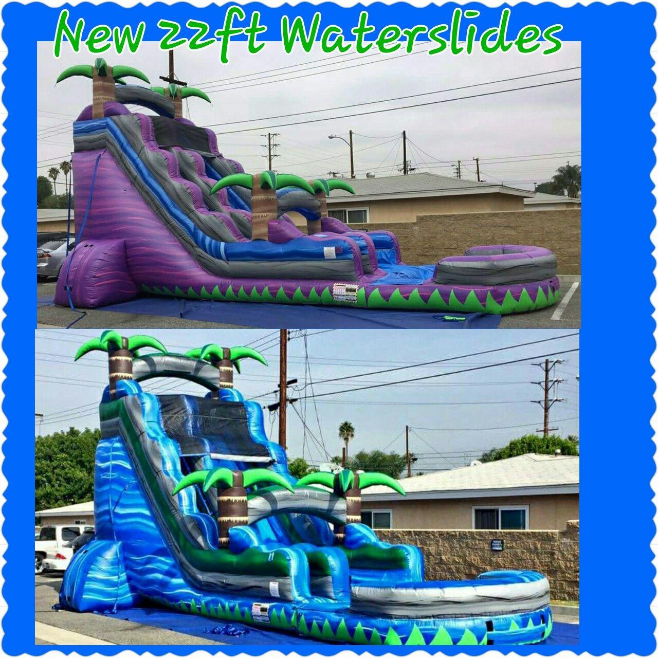 22ft blue lagoon inflatable waterslide 22ft purple rush