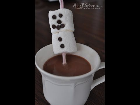 marshmallow snowman straws easy how to video kids can follow without adult help free