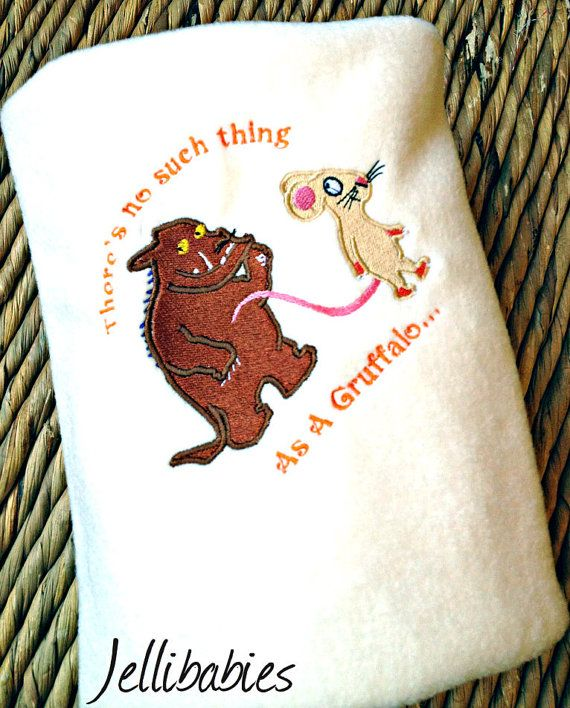 0a6bd6461 ... jellibabies personalised baby and children's clothes and accessories  Devon. The Gruffalo and Mouse baby cot blanket by Jellibabies1 on Etsy