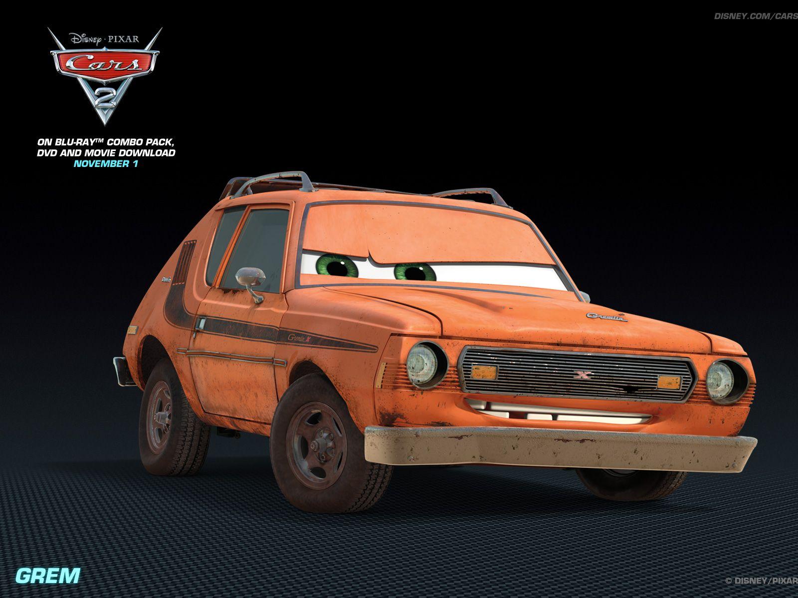 Cars Movie Characters: Grem - Disney Pixar Cars 2 Wallpaper