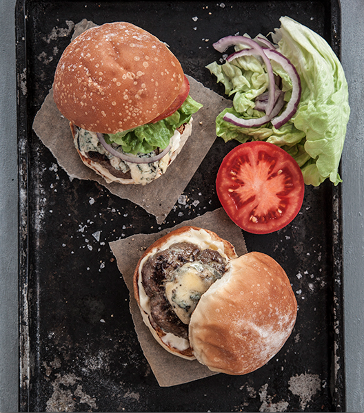 Kiko-Blue Burgers. Voila – an instant blue cheese sauce, with no mess or fuss. Make this recipe! 14 mins serves 4.