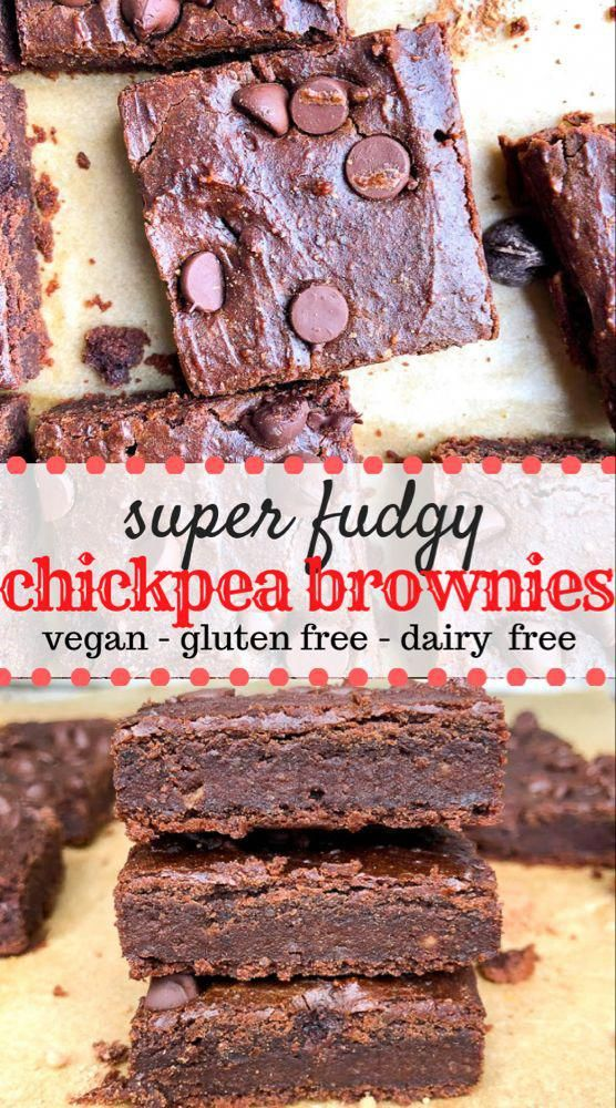 Chickpea Brownies are a healthy alternative to regular brownies and are fudgy, made with simple nat