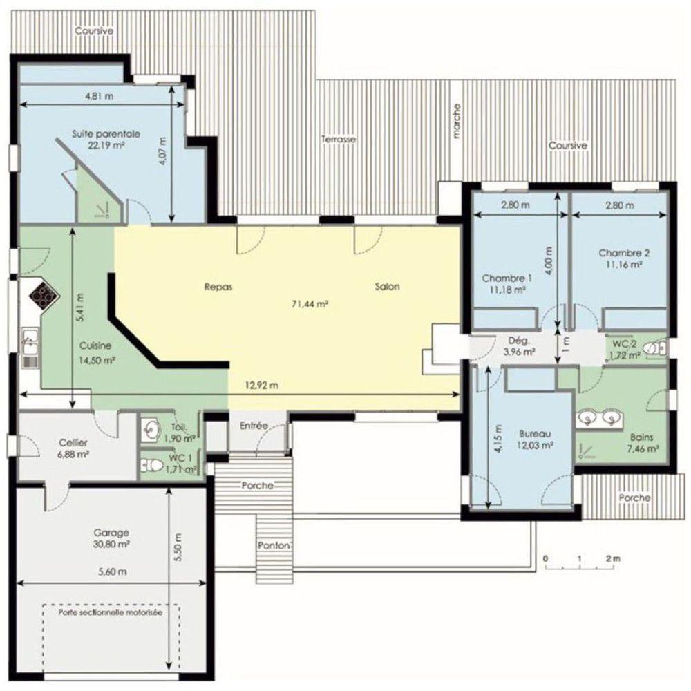 Découvrez Les Plans De Cette Maison Fonctionnelle Sur Www.construiresamaison .com U003eu003eu003e