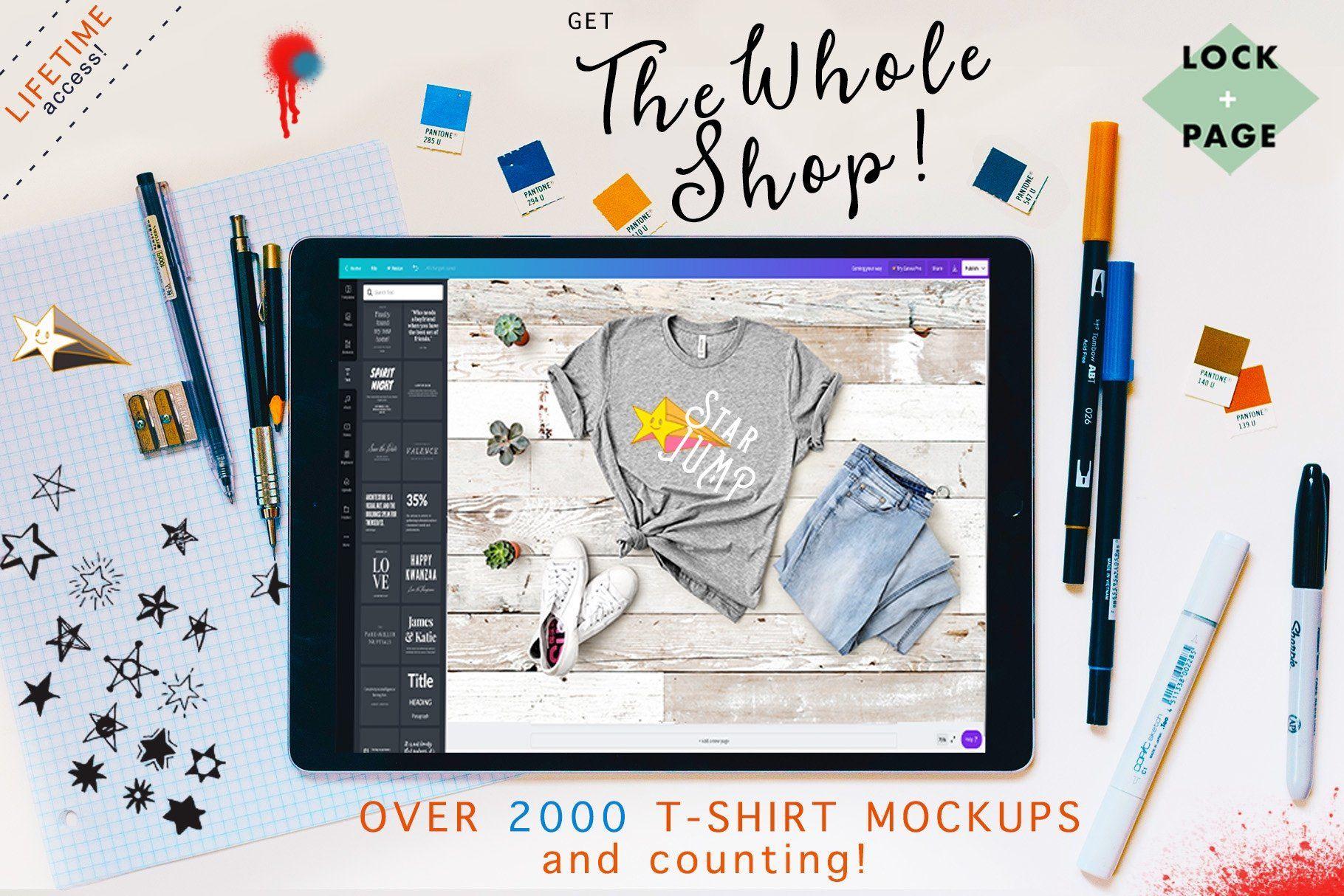 Download Whole Shop T Shirt Mockup Bundle Tshirt Mockup Mockup Shirt Mockup