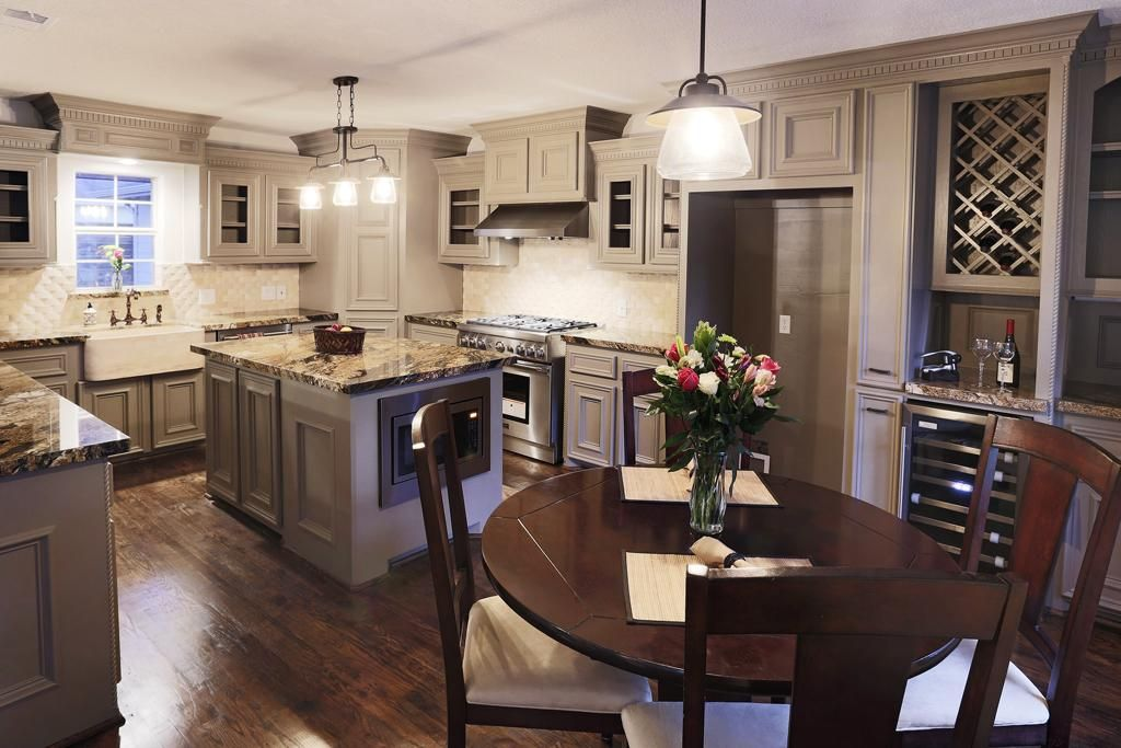 Built In Wine Storage Dual Temp Wine Cooler And Corking Area Built In Microwave In The Island For Easy Acce Kitchen Inspirations Kitchen Remodel New Kitchen