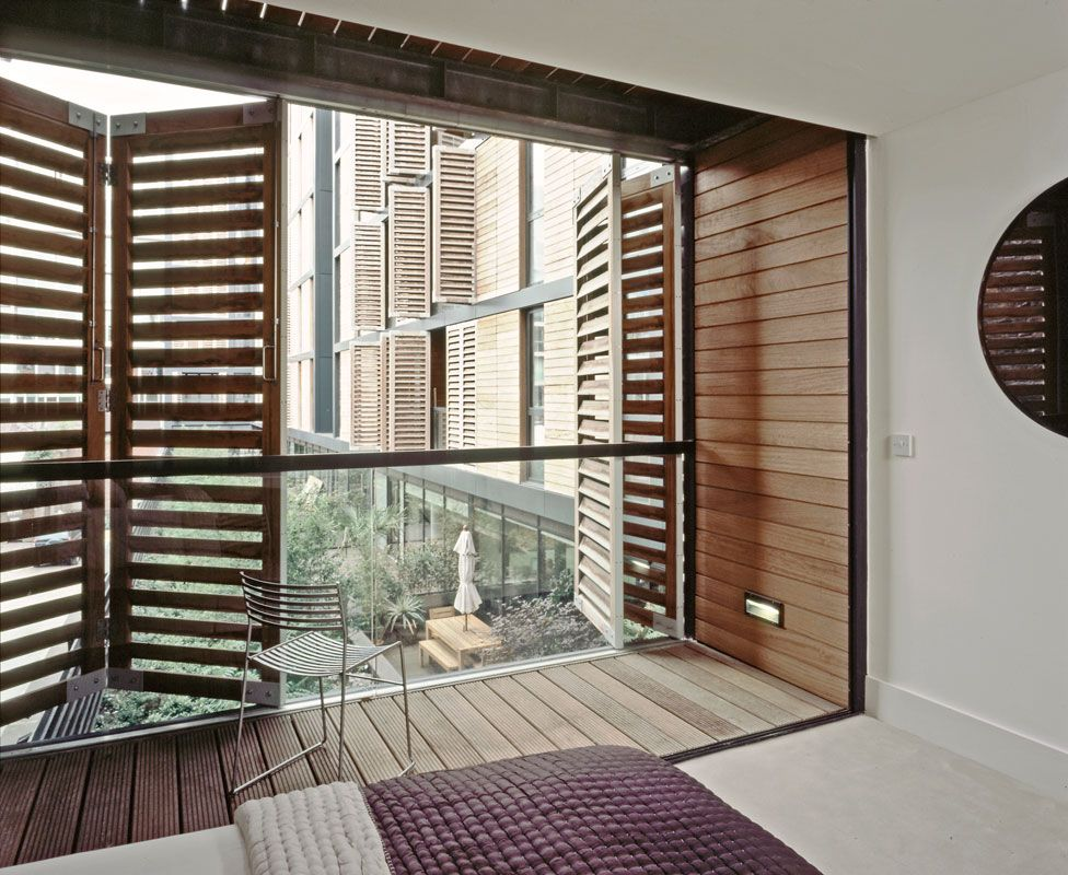 View From Apartment Of External Balcony And Retractable Privacy Shutters Decor Pinterest