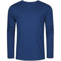 Photo of Langarmhemd mit Rundhalsausschnitt in Übergrößen, französisches Marineblau