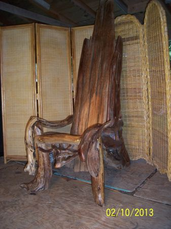 One Of A Kind Custom, Handmade Driftwood Chairs