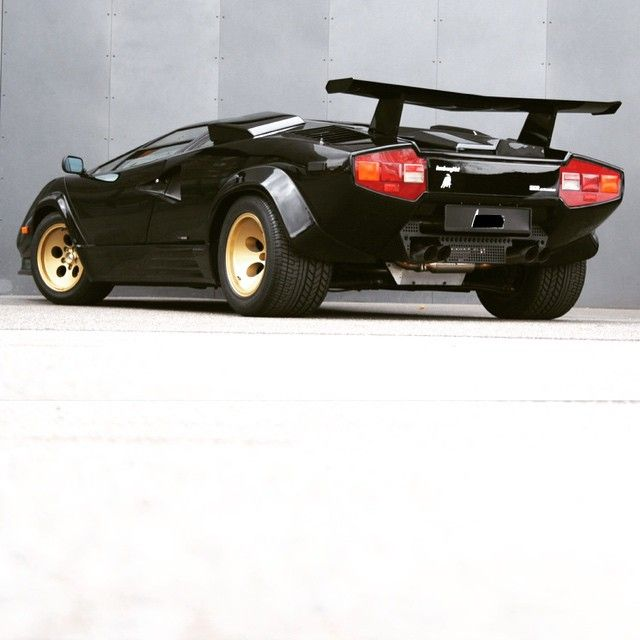 Black Gold Lamborghini Countach Rules Exotic Car Gold