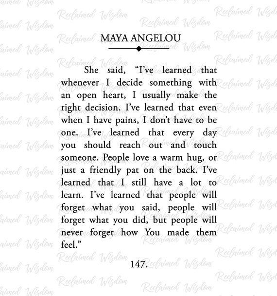 Photo of Maya Angelou Book Page, Maya Angelou Print, Maya Angelou Quo…