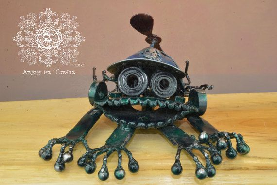 frog,steam,steampunk,home,industriel,artistelestordus,sculpture,scrap metal,collection,collector,gift,propeller,robotic
