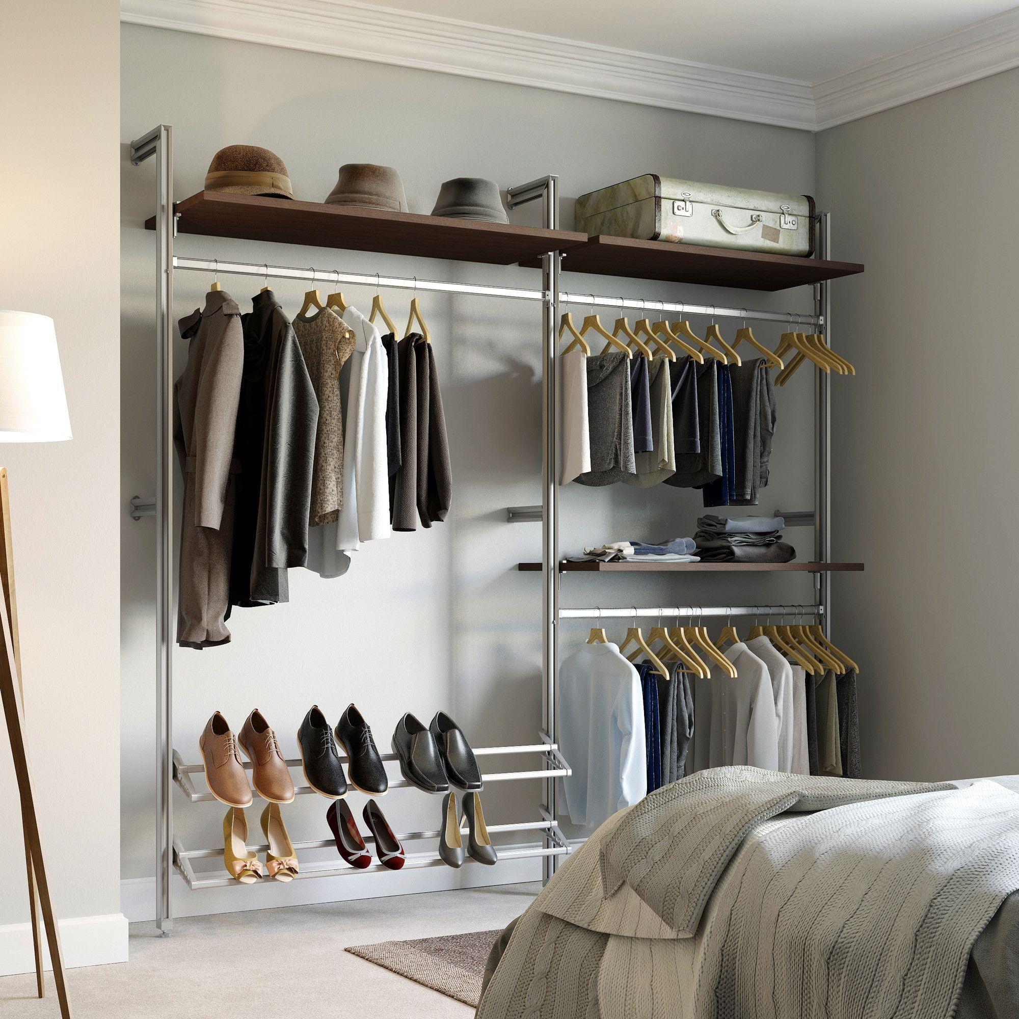 Relax 7.33 ft. Intermediate Closet Kit Closet system