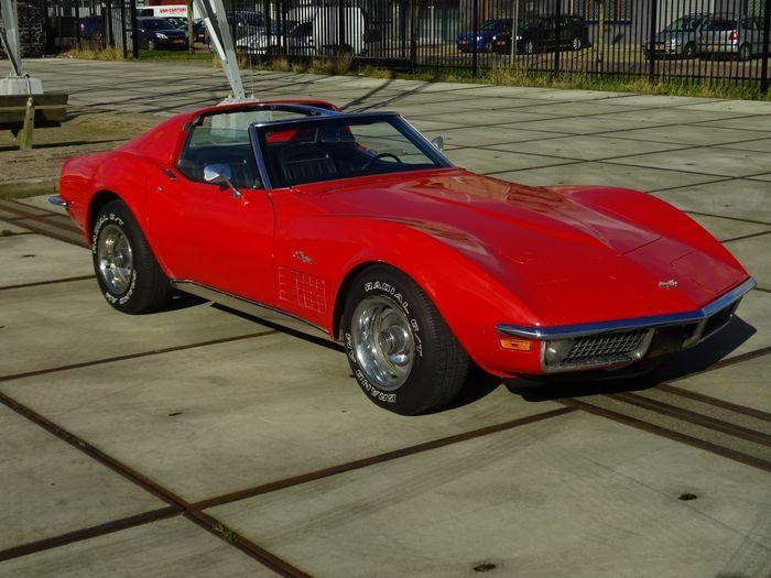 chevrolet corvette targa t top cabrio c3 350ci v8 1971 vette s rh pinterest fr
