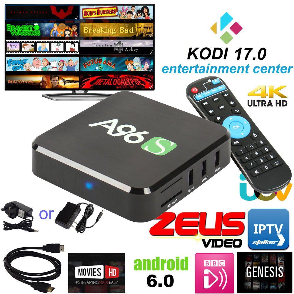 KODI(XBMC) A96 Quad Core Android 6.0 TV Box 4K Fully