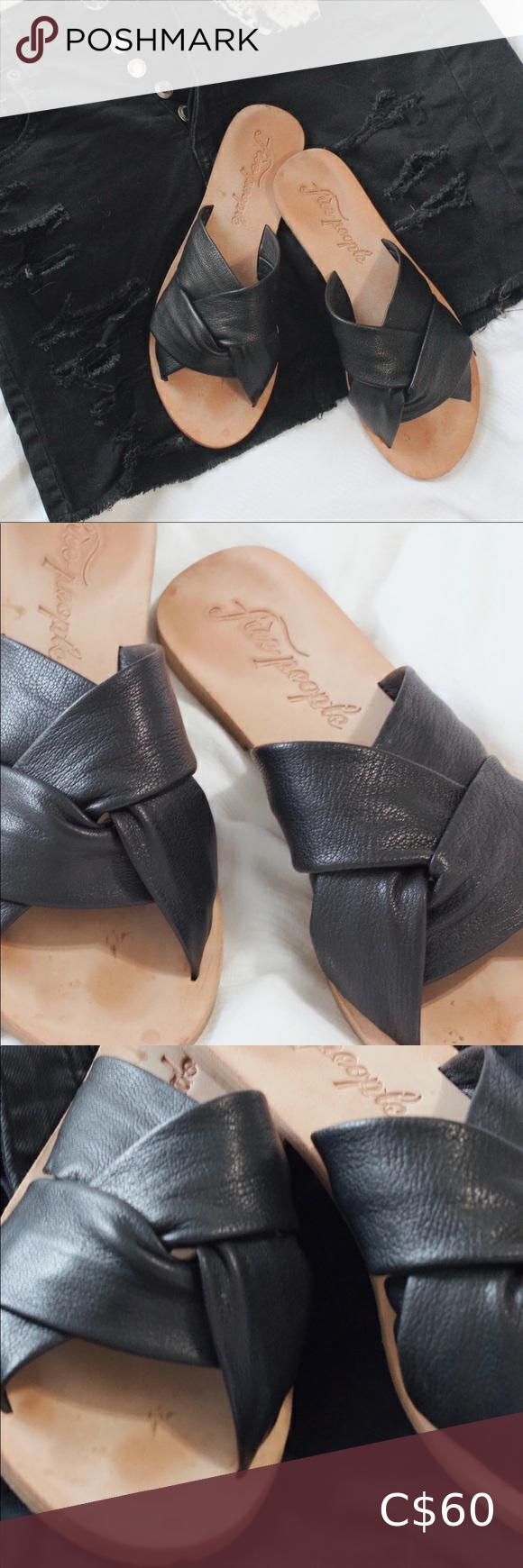 Free People Rio Vista Slides Soft Leather Sandals Free People Shoes Sandals Leather Strap Sandals