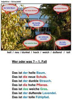 Deutsch als Fremdsprache DaF DaZ Grammatik - Adjetive-neu