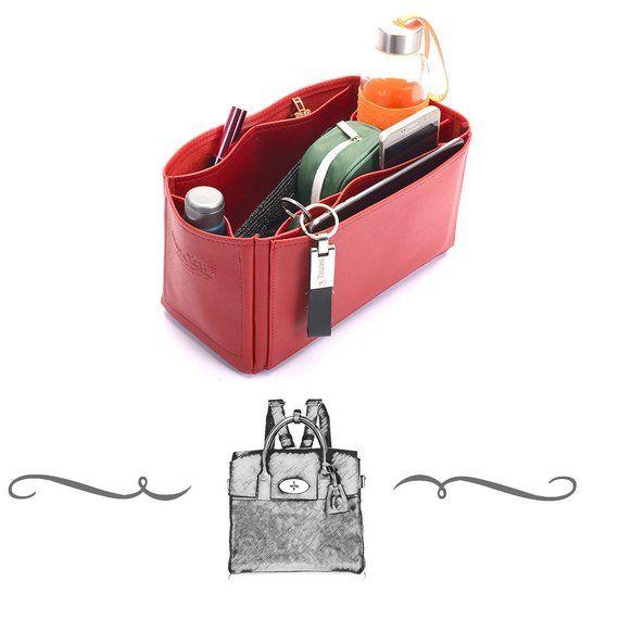 9ff41769bf1 Large Cara Leather Handbag Organizer, Leather bag insert for Mulberry Large  Cara, Leather Purse Inse