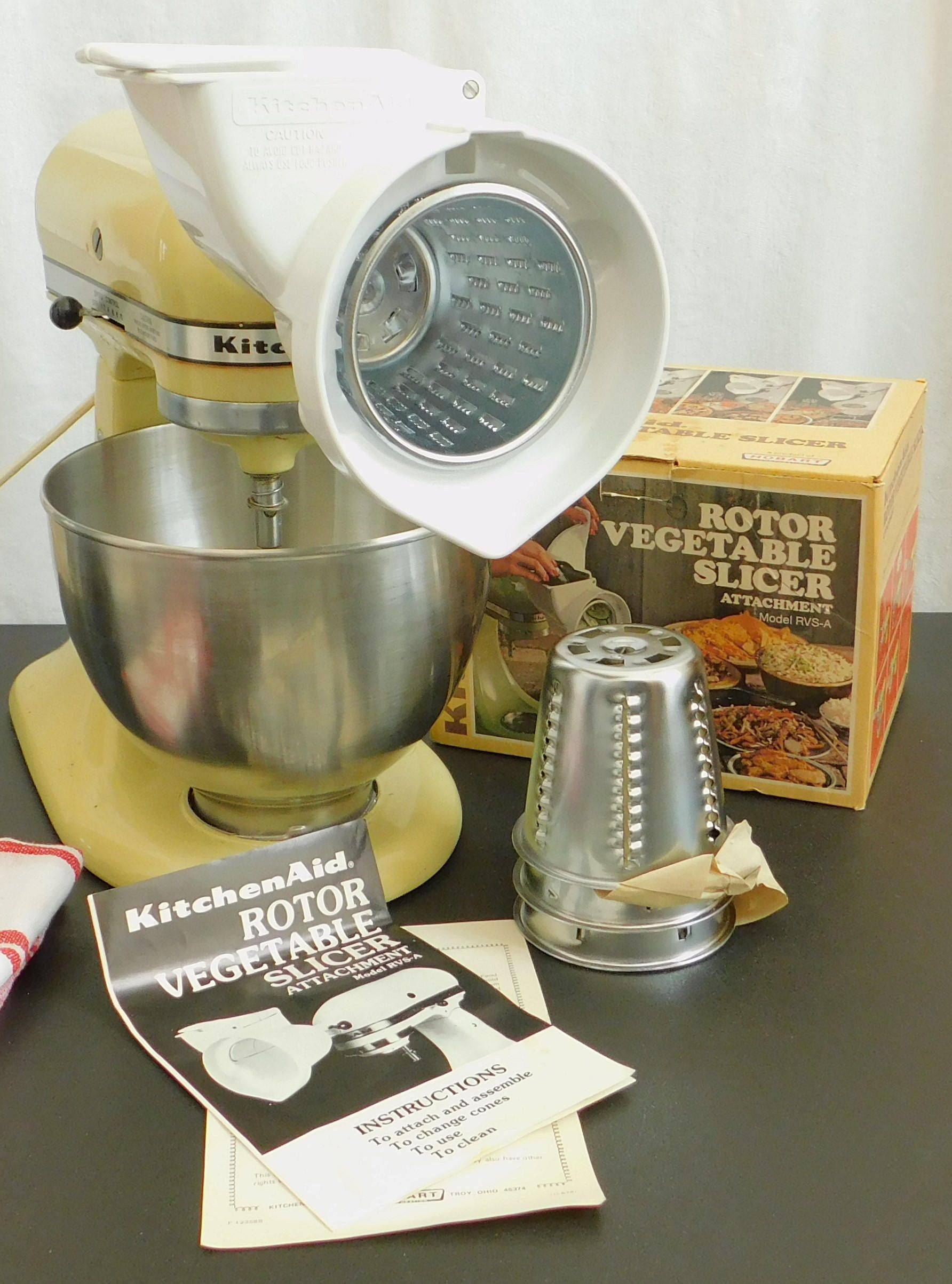 Vintage Kitchenaid Rotor Food Vegetable Slicer Attachment Cutter