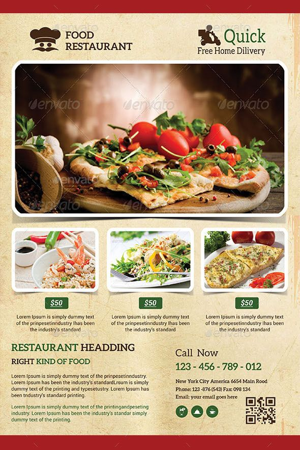 Restaurant Flyer Design Restaurant Flyer is good for promoting food