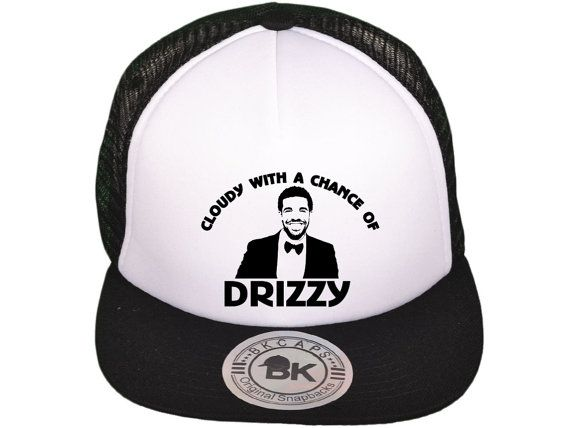 cloudy with a chance of drizzy truck mesh hat snapback