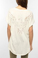 Truly Madly Deeply Lace Inset Eagle Tee