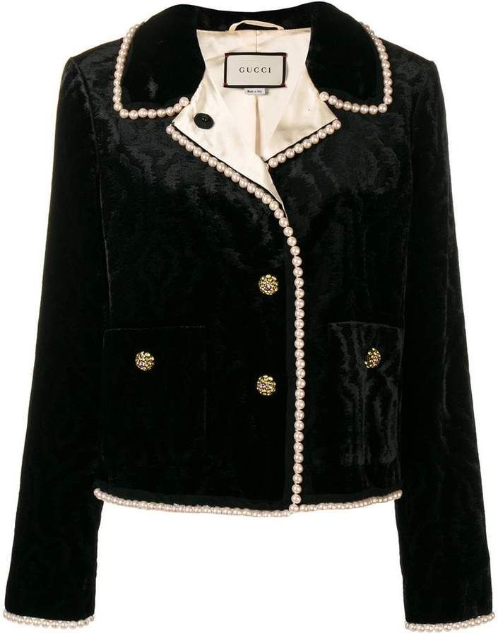 efddcbef5b Gucci bead trim jacket in 2019 | Products | Jackets, Beaded trim ...